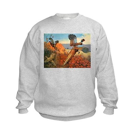 Pheasant Bird (Front) Kids Sweatshirt