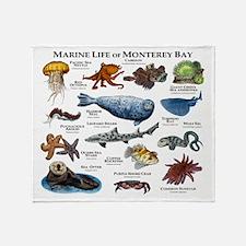 Marine Life of Monterey Bay Throw Blanket