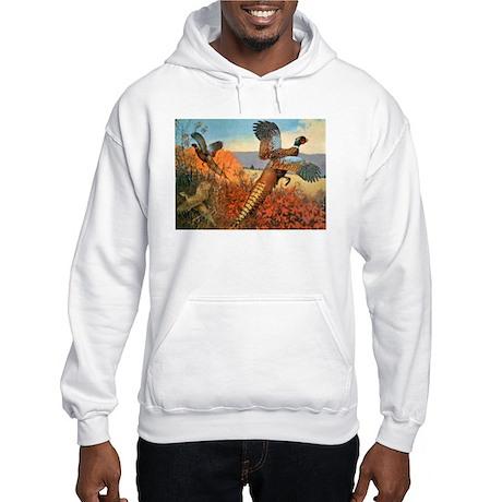 Pheasant Bird (Front) Hooded Sweatshirt