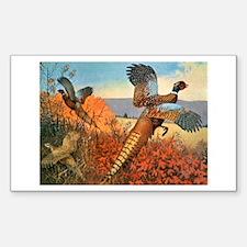 Pheasant Bird Rectangle Decal