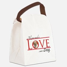 Love a Yellow Lab Canvas Lunch Bag