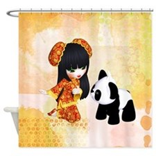 Kawaii China Girl Shower Curtain