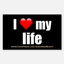 """Love My Life"" Sticker (Rectangle)"