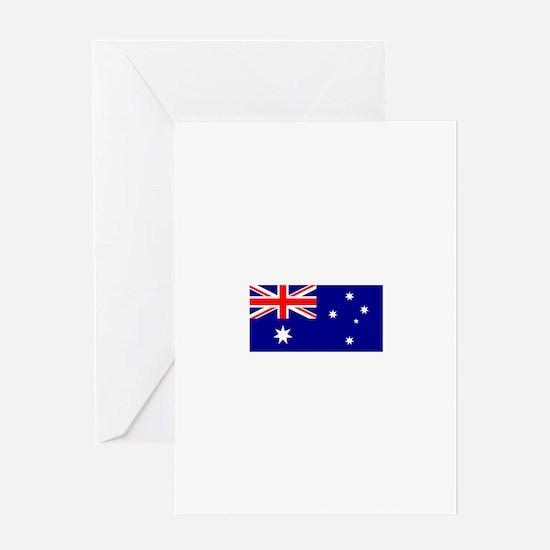 Australian Flag Greeting Cards