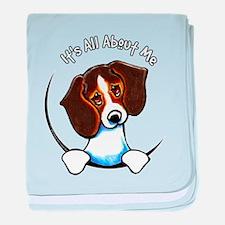 Tricolor Beagle IAAM baby blanket