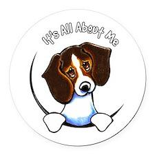 Tricolor Beagle IAAM Round Car Magnet