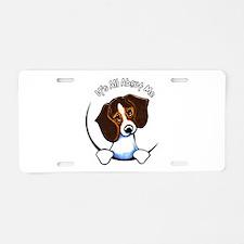 Tricolor Beagle IAAM Aluminum License Plate