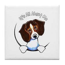 Tricolor Beagle IAAM Tile Coaster