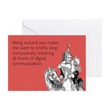 Being Around You Greeting Card