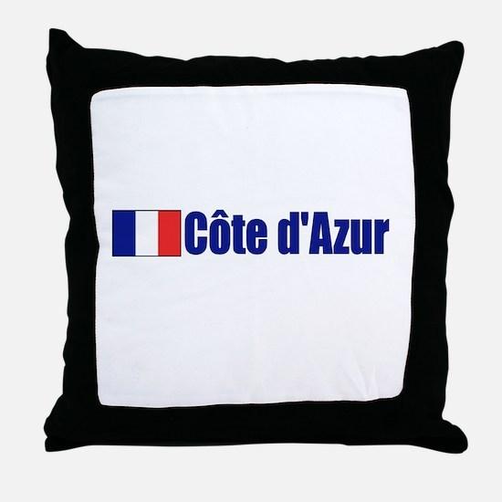 Cote d'Azur, France Throw Pillow