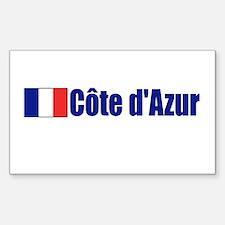 Cote d'Azur, France Rectangle Decal