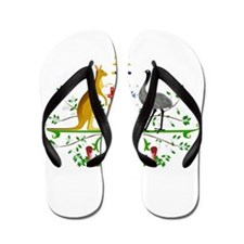 Australian Emblem Flip Flops