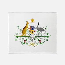Australian Emblem Throw Blanket