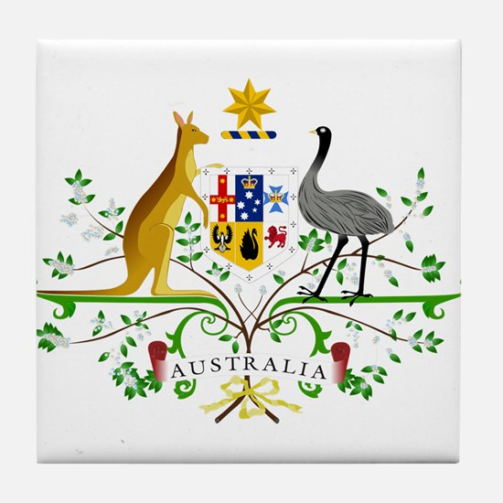 Australian Emblem Tile Coaster