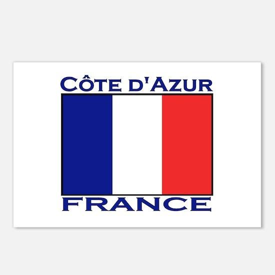 Cote d'Azur, France Postcards (Package of 8)
