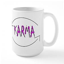 Karma in pink Mugs