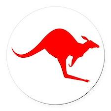 Australian Kangaroo Round Car Magnet