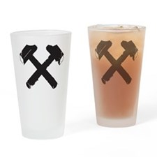 Crossed Hammers Drinking Glass