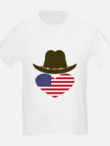 American Cowboy Heart T-Shirt