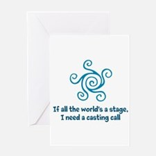 Casting Call Greeting Cards