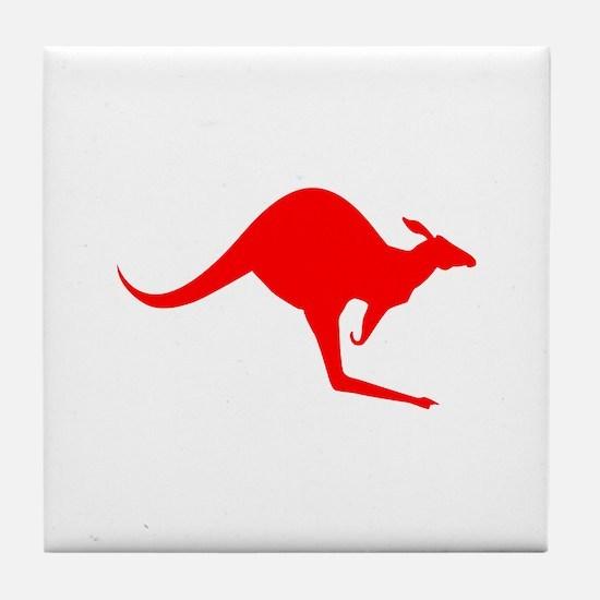Australian Kangaroo Tile Coaster