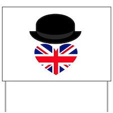 British Bowler Heart Yard Sign