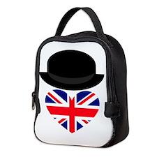 British Bowler Heart Neoprene Lunch Bag