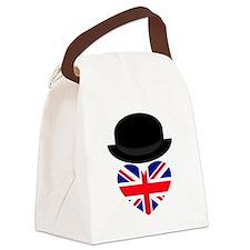 British Bowler Heart Canvas Lunch Bag