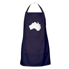 Australian Map Apron (dark)