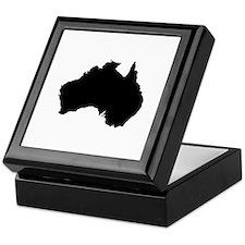 Australian Map Keepsake Box