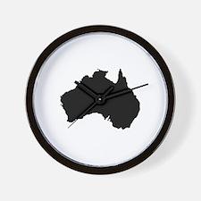 Australian Map Wall Clock