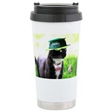 Saint Patrick kitty Travel Mug