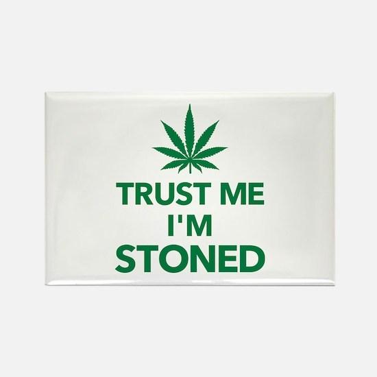 Trust me I'm stoned marijuana Rectangle Magnet