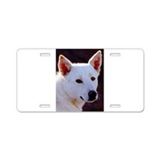 canaan dog Aluminum License Plate