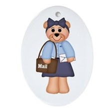 Mail Carrier Oval Ornament