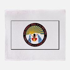 Big Pine Tribe Throw Blanket