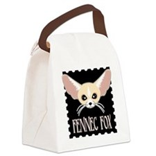 Cute Fennec Fox Cartoon Canvas Lunch Bag