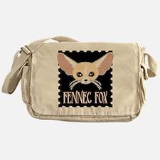 Cute Fennec Fox Cartoon Messenger Bag
