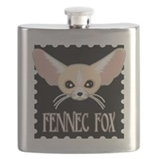 Cute Fennec Fox Cartoon Flask