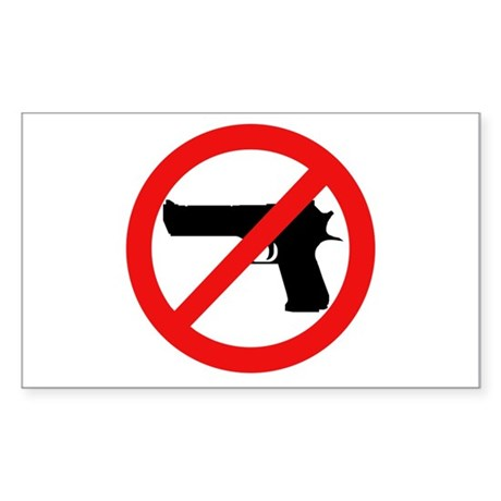 No More Guns Rectangle Sticker