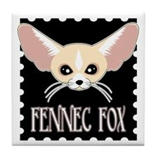 Cute Fennec Fox Cartoon Tile Coaster