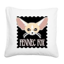 Cute Fennec Fox Cartoon Square Canvas Pillow