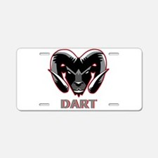 Dart Ram Head Aluminum Aluminum License Plate