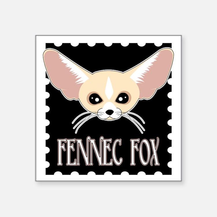 Cute Fennec Fox Cartoon Sticker