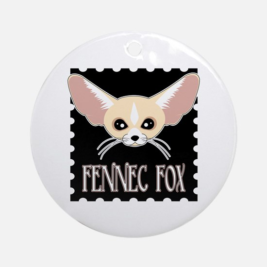Cute Fennec Fox Cartoon Ornament (Round)