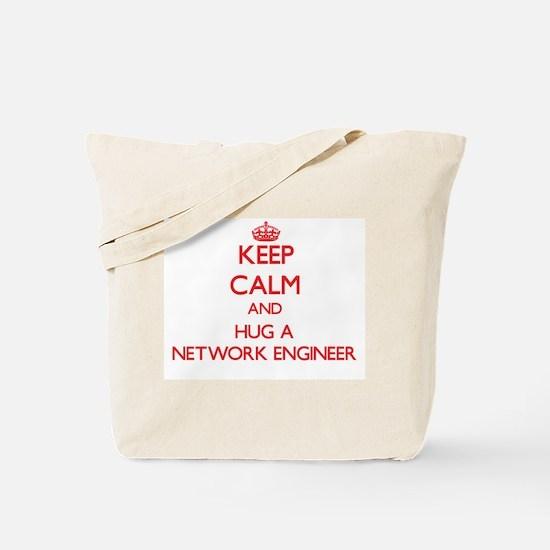 Keep Calm and Hug a Network Engineer Tote Bag
