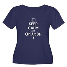 Keep Calm and Control Alt Delete (white) Plus Size