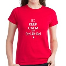 Keep Calm and Control Alt Delete (white) T-Shirt