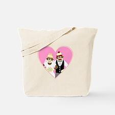 Sock Monkey Marriage Wedding Tote Bag