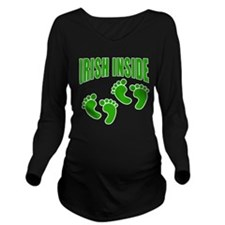 TWINS IRISH INSIDE Long Sleeve Maternity T-Shirt